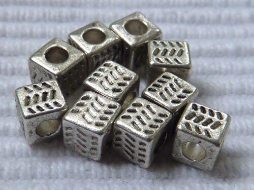 20//100 cube métal ARGENT Perles Zwischenteil 4,5 mm Tibet Argent 2468