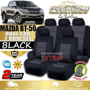 MAZDA-BT-50-BT50-DUAL-CAB-BLACK-CUSTOM-FIT-SEAT-COVERS-09-2015-2018-GT-XT-XTR