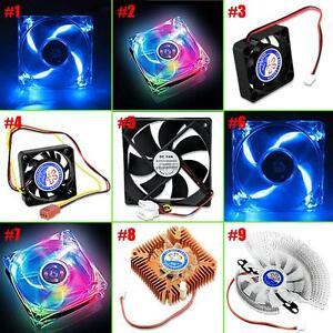 PC-Computer-CPU-LED-Cooling-Fan-Case-Cooler-Quiet-Internal-Heatsink-2-3-4-Pins