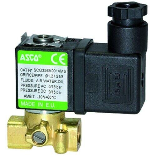 NW 1,2 230 VAC FPM Messing ASCO Magnetventil 3//2 NC direkt betätigt G 1//8
