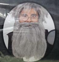 Hillbilly Grandpa Gray Beard & Moustache Bubba Redneck Country Facial Hair