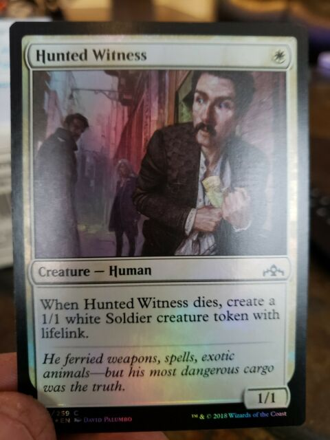 4 x Hunted Witness ~ Guilds of Ravnica ~ MINT//NearMint ~ Magic 1 x PLAYSET