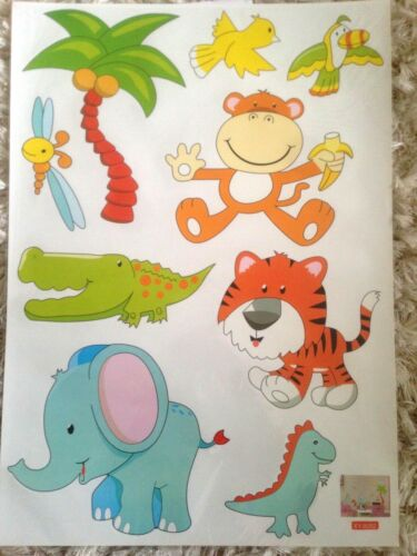 large animals jungle zoo wall sticker decal children//kids room mural gift toy