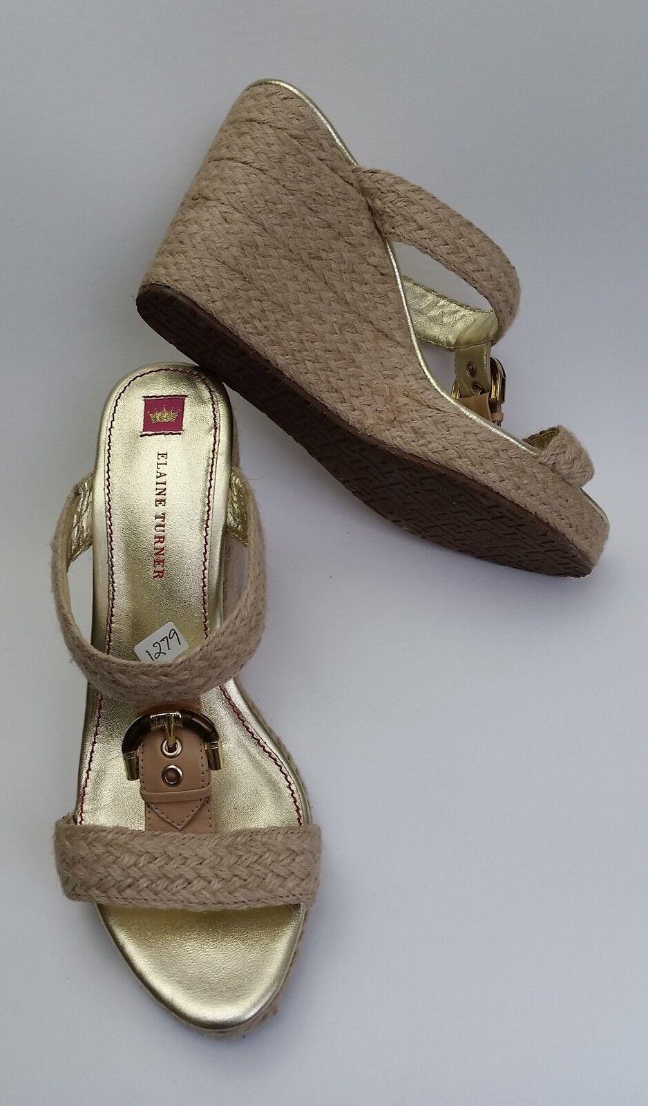 7c21f79cbf39f Elaine Turner shoes Sandals Natural Espadrilles Slip-On Size 10 ...