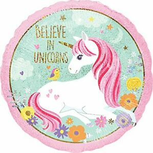 Unicorn-Party-Supplies-034-Believe-In-Unicorns-034-6th-Birthday-Balloon-Bouquet