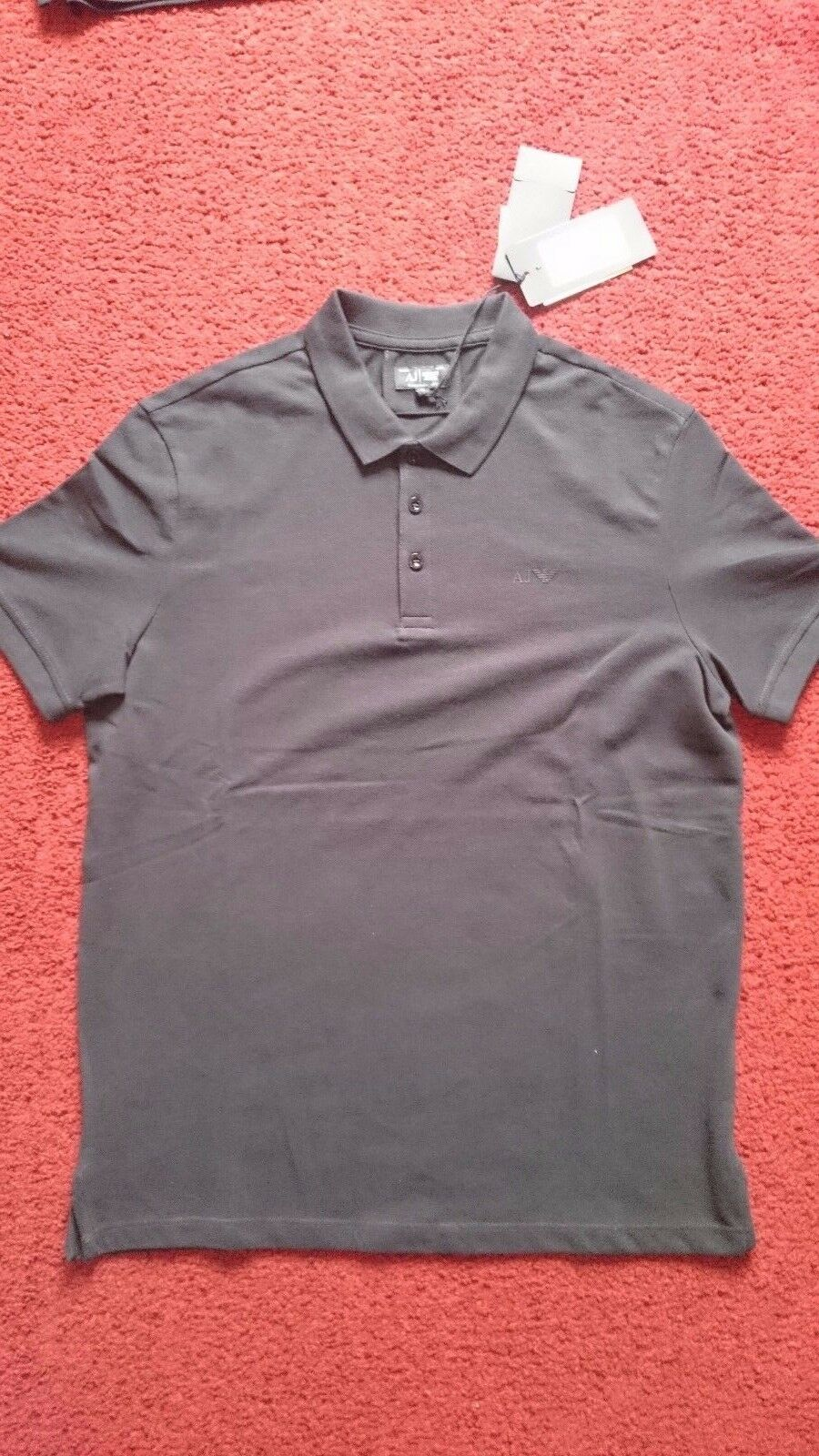 MENS ARMANI JEANS POLO SHIRT blueE NOTTE (NAVY) SIZE MEDIUM  BRAND NEW WITH TAGS
