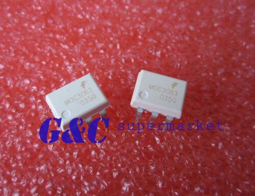 10pcs MOC3063  OPTOCOUPLER TRIAC 600V 6DIP ZC New good quality D30
