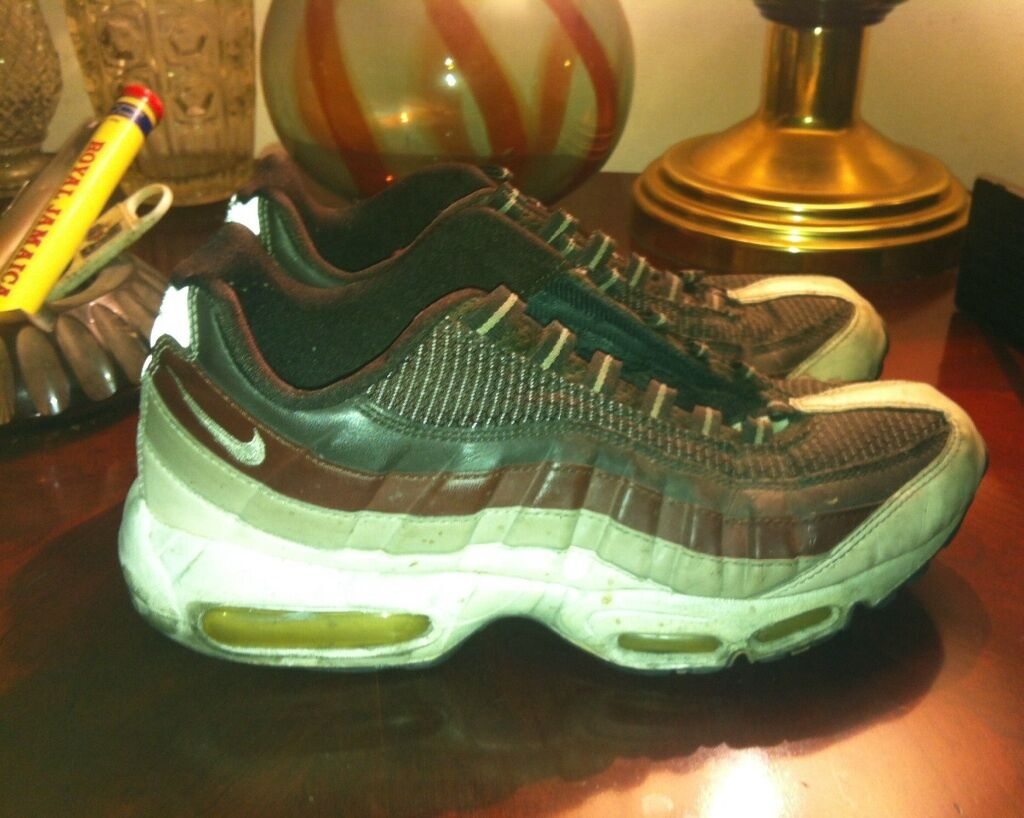 NIKE AIR MAX 95 MENS SIZE 9 USED BROWN BLACK WHITE 2008 Brand discount