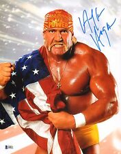 Hulk Hogan Signed 11x14 Photo BAS Beckett COA WWE Wrestlemania Picture Autograph