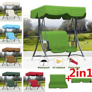 Replacement Canopy For Swing Seat Top Cover Garden Hammock Waterproof Cream