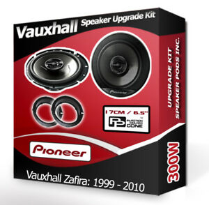 Vauxhall Zafira Rear Door speakers Pioneer car speakers + adapter pods 300W