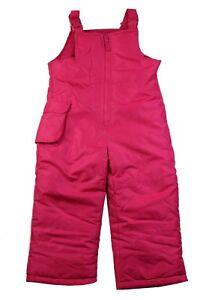 London-Fog-Adjustable-Toddler-Girls-Sz-3T-4T-Pink-Snowsuit-Bib-Ski-Winter-Pants