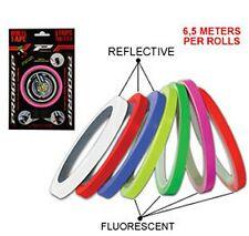 NEW PROGRIP DETAILING WHEEL TAPE PINSTRIPE MOTORCYCLE RED STAND OUT AND BE SEEN