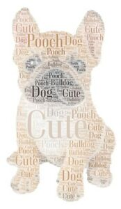 Personalised-Word-Art-Bull-Dog-Picture-Print-only-Gift-Present
