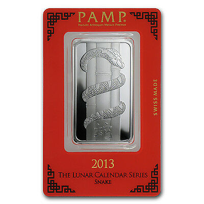 1 oz Pamp Suisse Silver Bar - Year of the Snake - In Assay