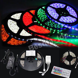 3528-5050-5M-White-7colors-300-SMD-12V-LED-Flexible-Strip-Light-Waterproof-tape