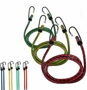 3 X Bungee Cords Wires Cables Straps Bungie Elastic 80cm with J Hooks UK