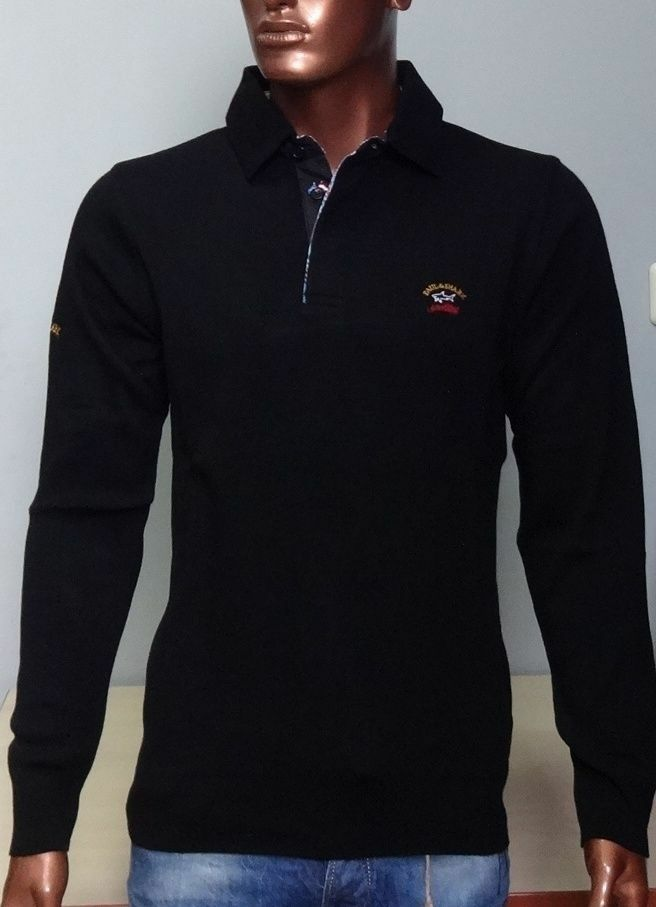 NEU PAUL & SHARK Yachting Pullover Sweater Pulli Jumper SCHWARZ %%%ROTuziert