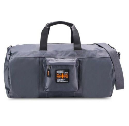SUPERDRY SD BARREL GREY Bag RRP$149.95 BNWT  Large Gym Travel Sports Weekender