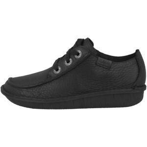 Mujer Clarks Black 20306639 Búsqueda Funny Cordones Con Medios Cuero Zapatos De qArAZxtw