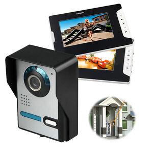 """7/"""" Farb Video Gegensprechanlage Türsprechanlage Monitor Klingel Sprechanlage NEU"""