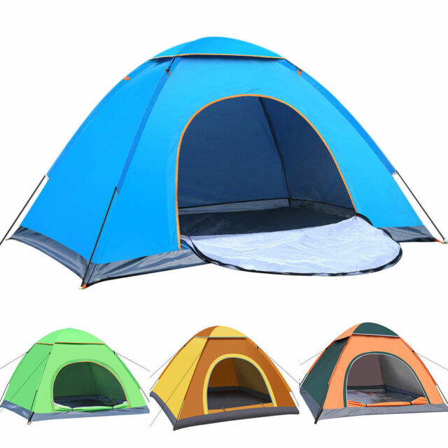 2-3 Person Pop Up Tent Festival Camping Hiking Beach Quick Fast Instant Pitch