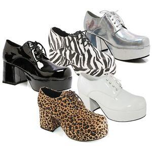 2cfc72d60a4 Mens Platform Shoes 70s Disco Costume Pimp Funny Halloween Fancy ...