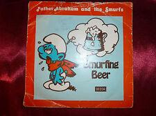 "SMURFS & Father Abraham SMURFING BEER 7"" PS Single 24th Apr 1979 BBC Radio Promo"