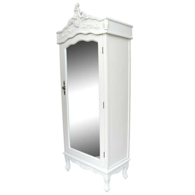 Armoire/Wardrobe Bedroom Furniture White Single French Shabby Chic Country  Door