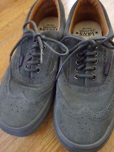 84253acd43282f VANS Era Wingtip Gray Suede Leather Shoes US 8 Men s Women s 9.5