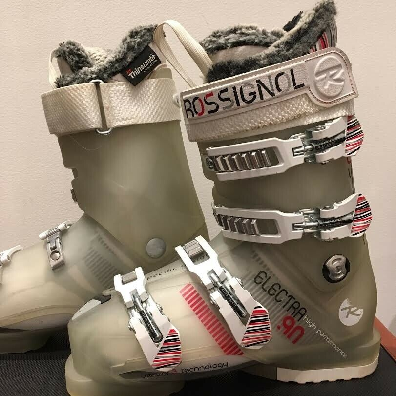 Rossignol Electra Ski Boots Women's  22-23.5 Flex 90 Great Condition Ships FREE   fantastic quality