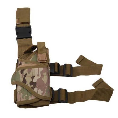 Tactical Army Pistol Leg Drop Wrap-around Thigh Holster Pouch Adjustable S
