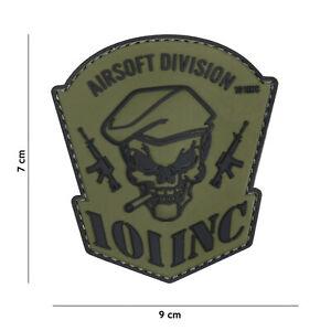 Airsoft Division 101 Inc Vert #18080 Patch Velcro Airsoft Paintball Tactical-afficher Le Titre D'origine