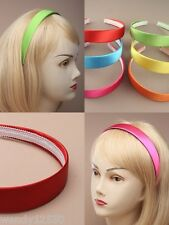 PACK OF 6 BRIGHT SATIN 2.5cm WIDE ALICE BANDS : SP-9012 PK6