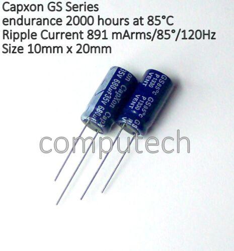VENT 5 pezzi Condensatore elettrolitico 680uF 35V 85°C  CAPXON GS Serie