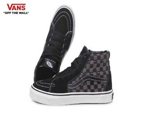 f7c34742 Details about Vans Sk8-Hi Black Pewter Checker Street Style Fashion  Sneakers,Shoes VN-0D5IBPJ