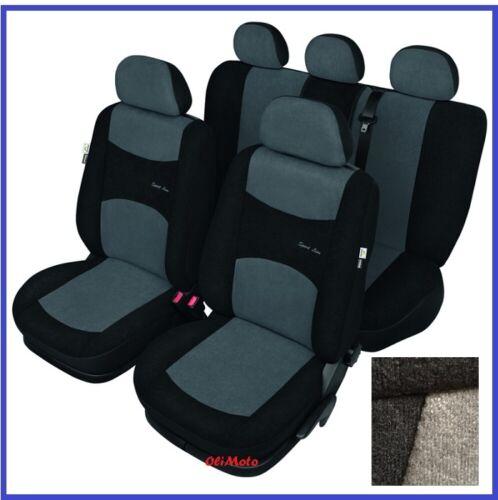 Grey//Black Sport Line Tailored Full Set Seat Car Covers Fiat Punto Mk4 2012 on