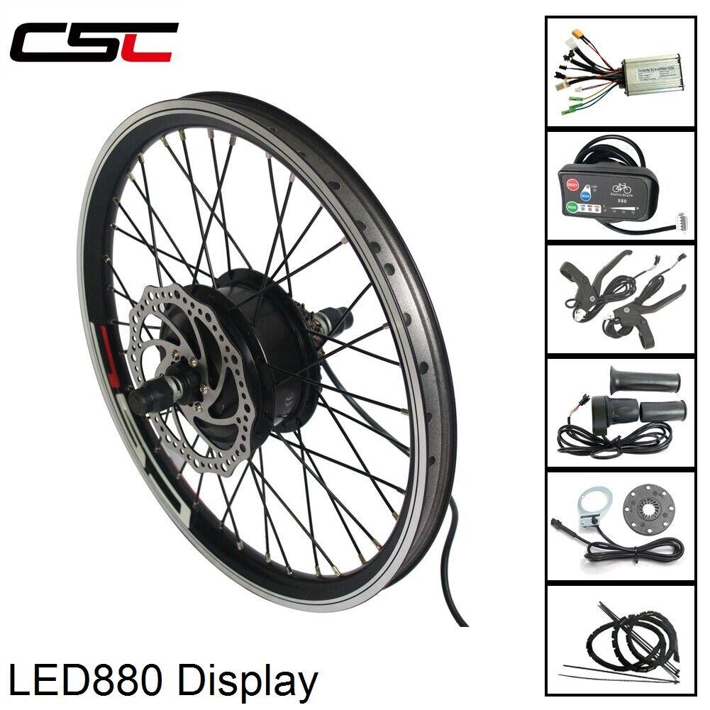 Elektrisk cykel Motorhjul 36V 350W Congrönion Kit LED Display för 20 -29'- E -cykel