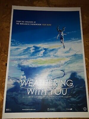 Weathering With You Tenki No Ko Movie Usa Theatrical Release Promo Poster Ebay