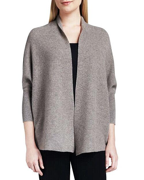 Neiman Marcus 100% CASHMERE braun Buttonless Cardigan Jacket XL