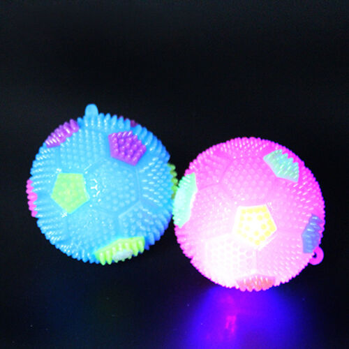 LED Soccer Colorful Flashing Light Up Massage Bouncing Ball Toys for Kids Child