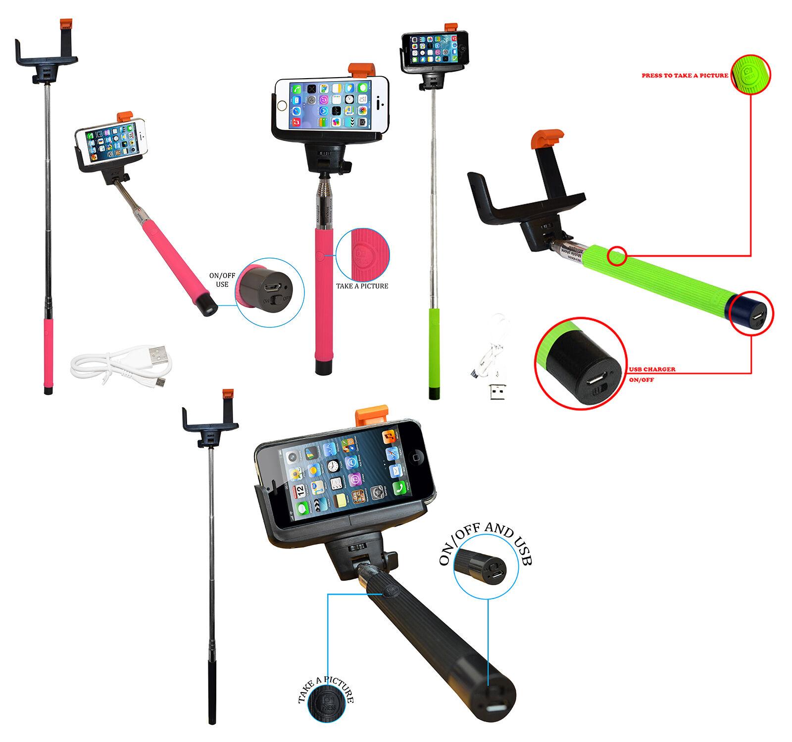 Wireless Bluetooth Mobile Phone Telescopic Monopod Camera