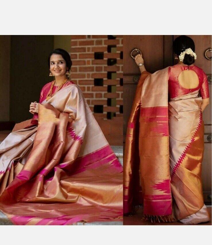 Uniq Indian silk saree formal ethnic wear pakistani wedding designer party sari