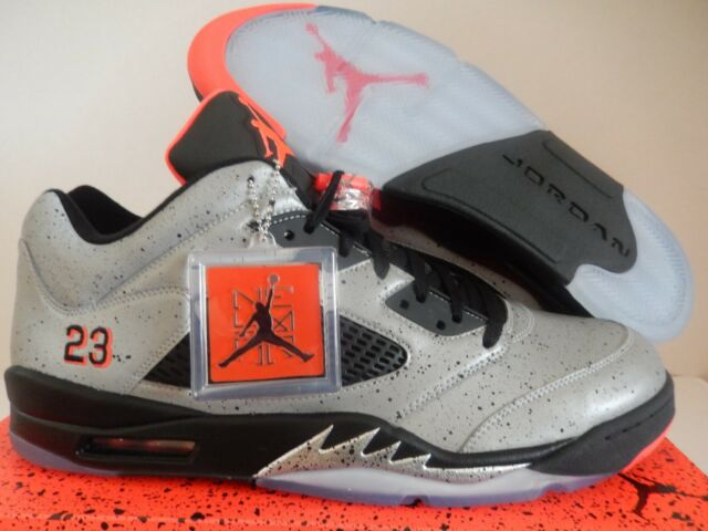 online store 27248 8a649 NIKE AIR JORDAN 5 RETRO LOW NEYMAR REFLECTIVE SILVER-INFRARED SZ 18  846315-