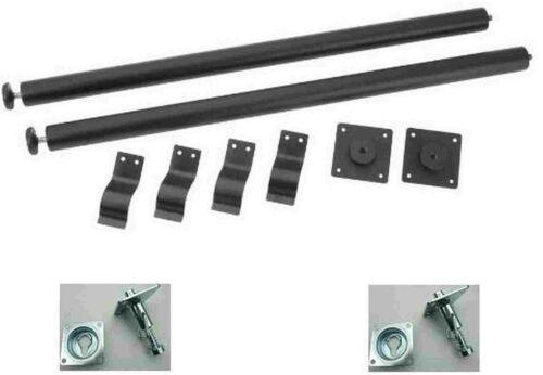 Tischbein-/& Tischverbinder-Komplett-Set = Bolzenplatte+Einbauflansch+Tischbeine