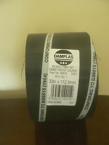 Damplas DPC Damp Proof Course 30m x 112.5mm roll polythene conforms BS6515 1984