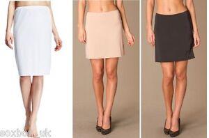 Ladies-Underskirt-Half-Slip-Skirt-Black-Or-Natural-In-Sizes-10-18-UK-2-Pack