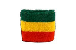 Schweißband Fahne Flagge Deutschland Bayern ohne Wappen 7x8cm Armband für Sport