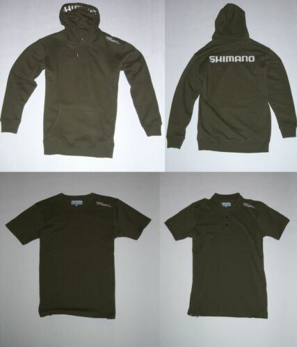 Polo Shirt Shimano Clothing Pack Bundle Olive Hoody T-Shirt SET