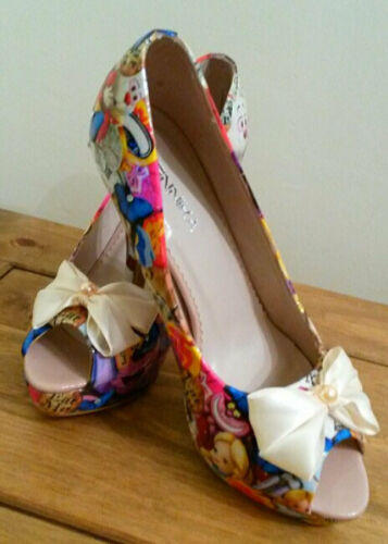 Alice In Wonderland customised decoupage shoes